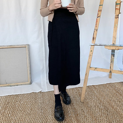 knit midi wrap dress