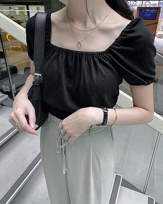 princess sleeve cropped top
