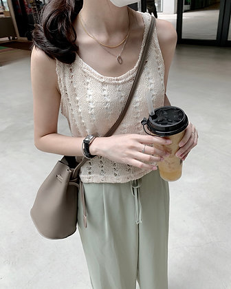 crochet loose knit top