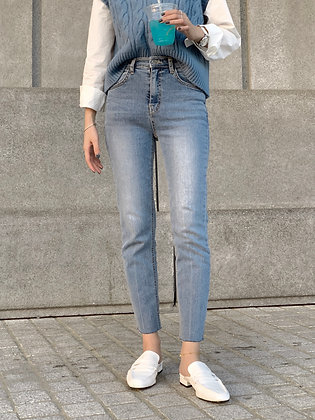 BB1034 high waisted fitted jeans
