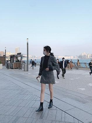 cropped blazer + skirt set