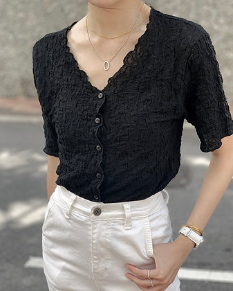 wrinkly two way top