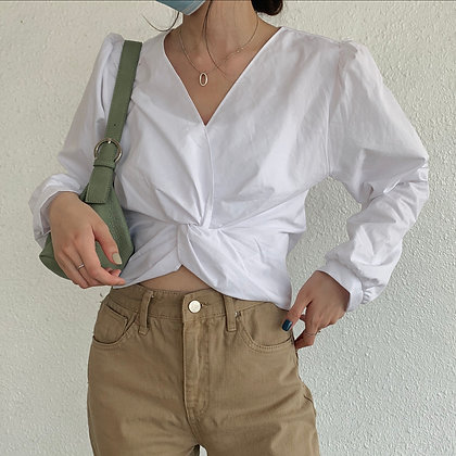 twisted knot blouse