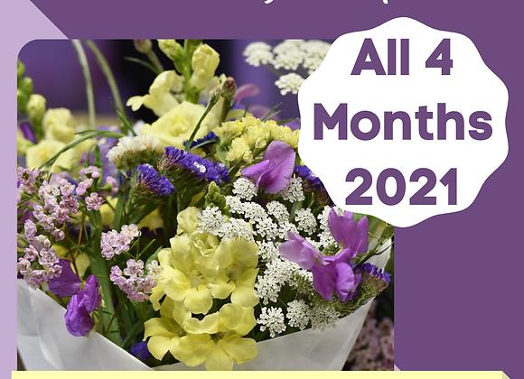 Bouquet Subscription - Jun,Jul, Aug, Sep 2021