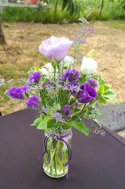 Lisianthus in purple shades