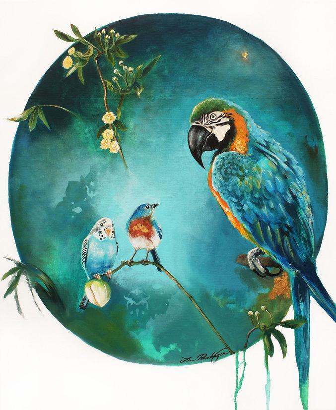 Les 3 Amis (Painting size_ 59,5 x 73 cm)
