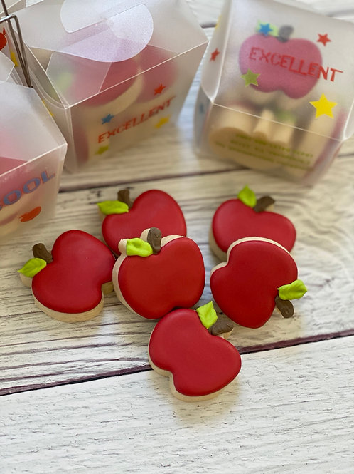 6 mini apples in take out box