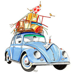 verhuiskaart VW kever