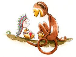 Mart en zijn aap