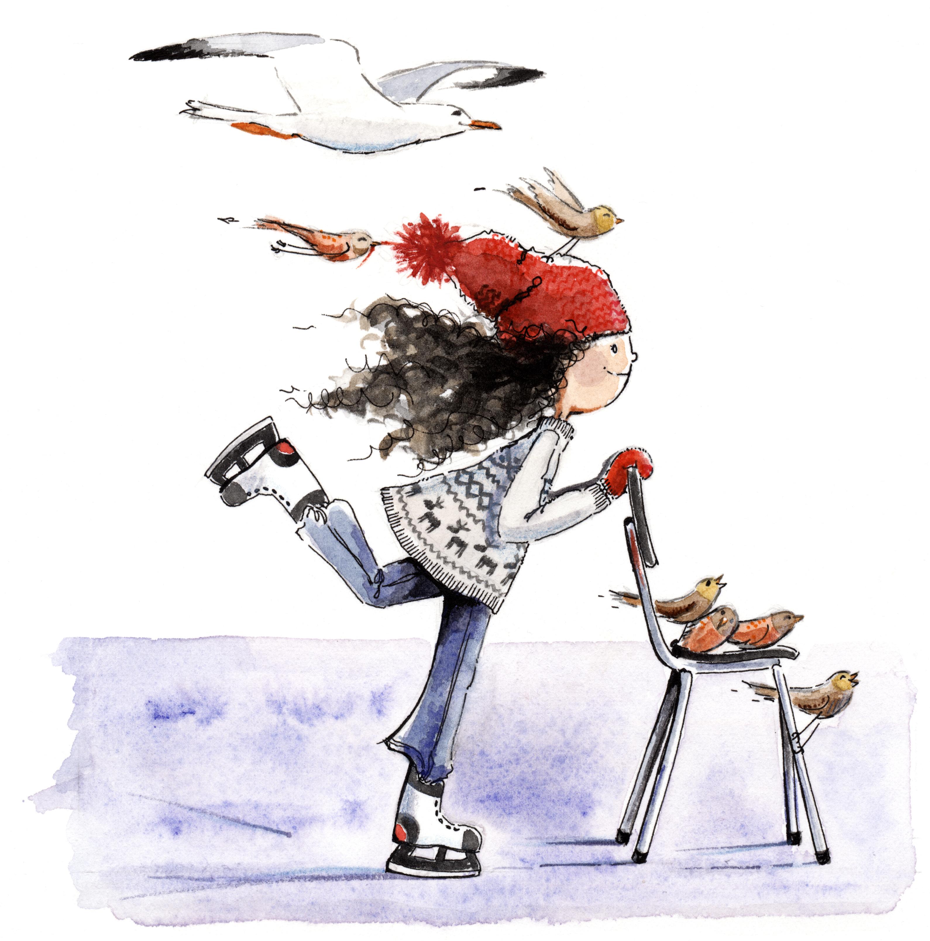 nadia schaatst...best hard!