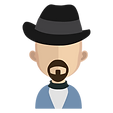 cartoon man with hat and goatee