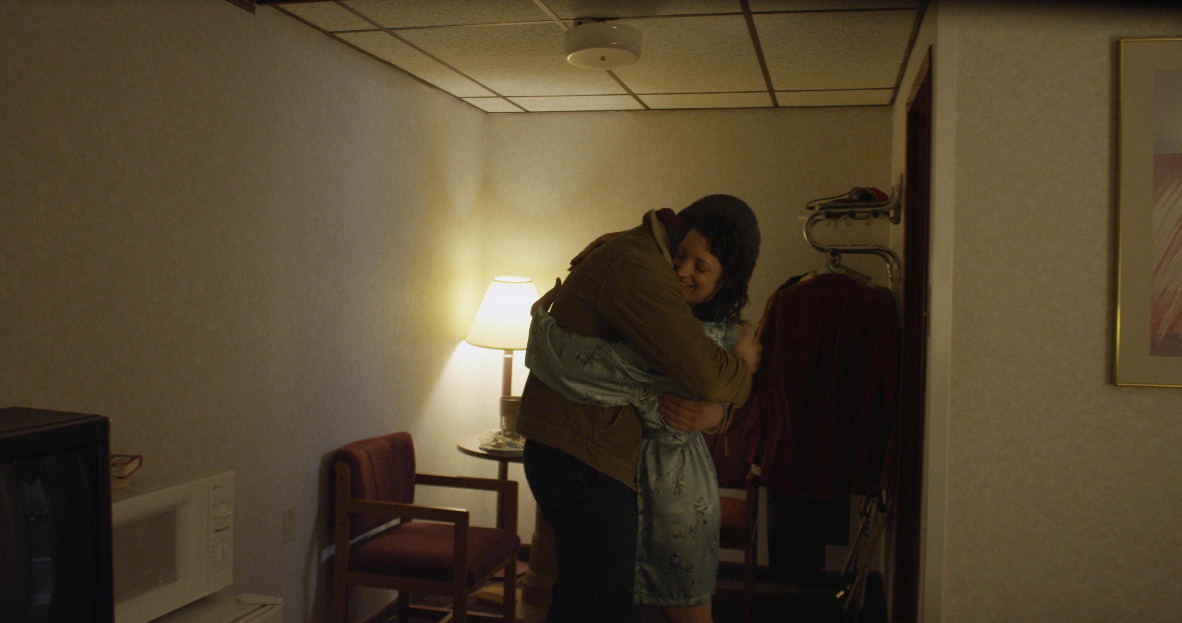 The Avenue - Christian hugs Sandy