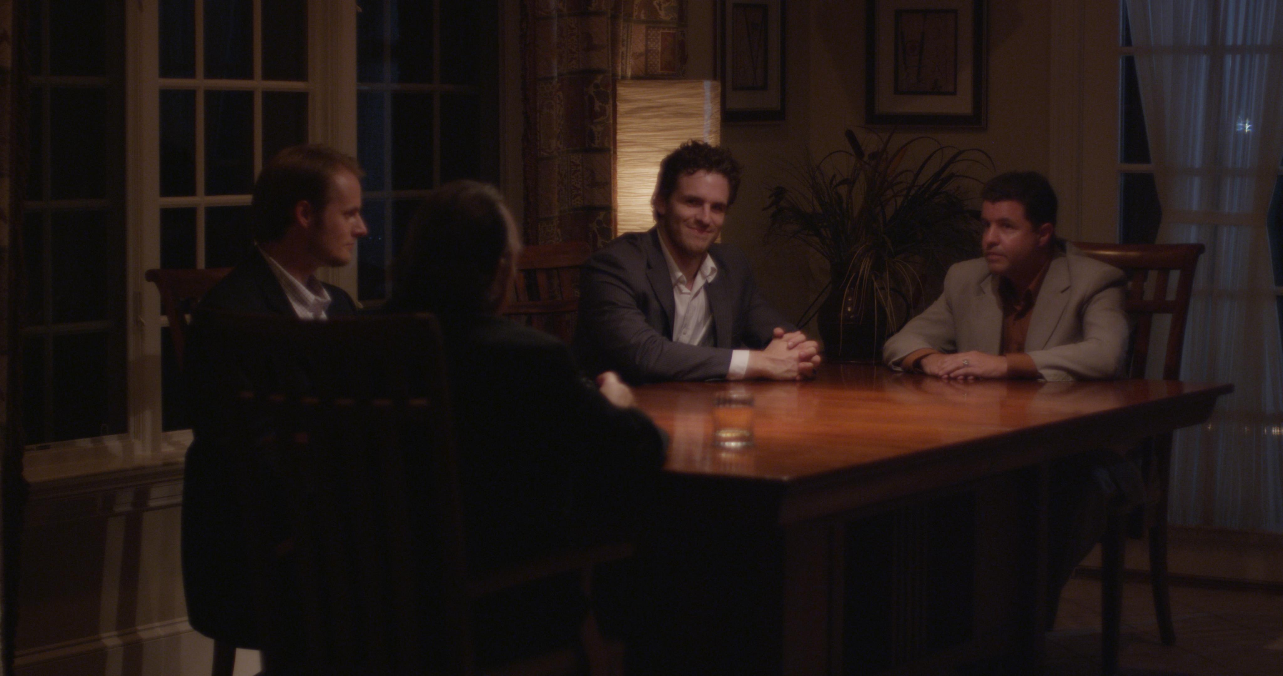 The Avenue - Eddie, Christian, Gordon, and Nicholas around tbale