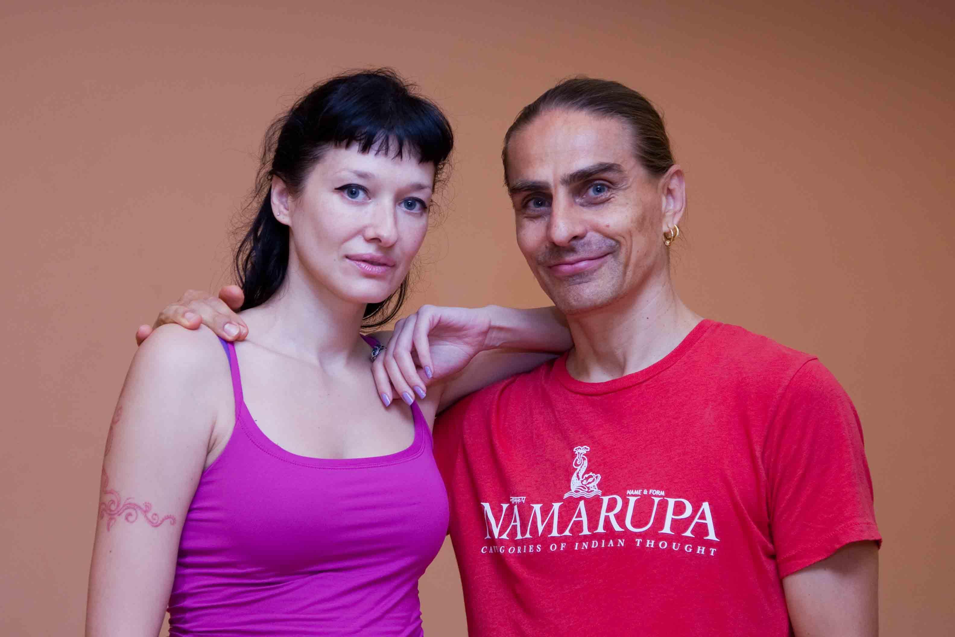 Юля и Петри.
