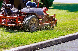 process of lawn mowing, concept of mowin