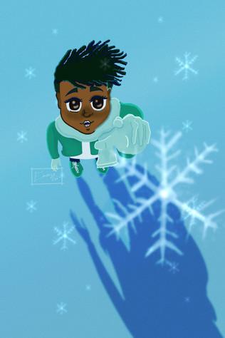 Ramsey Snowflake Print
