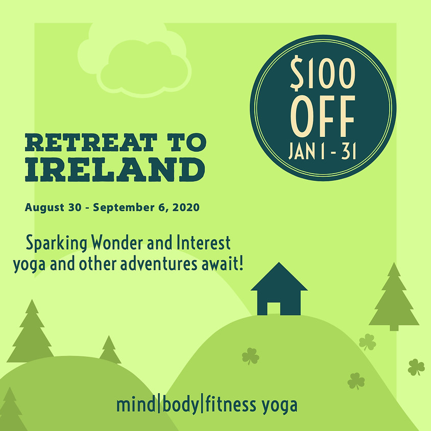 Retreat to Ireland and Save $100