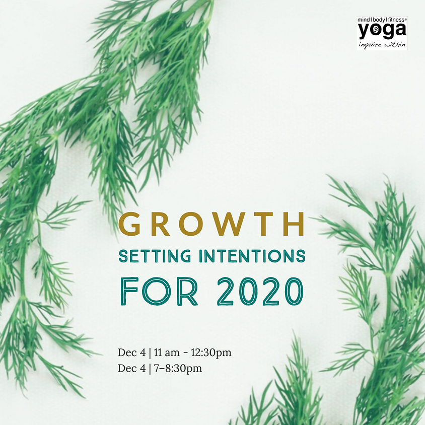 GROWTH - Setting Intentions for 2020