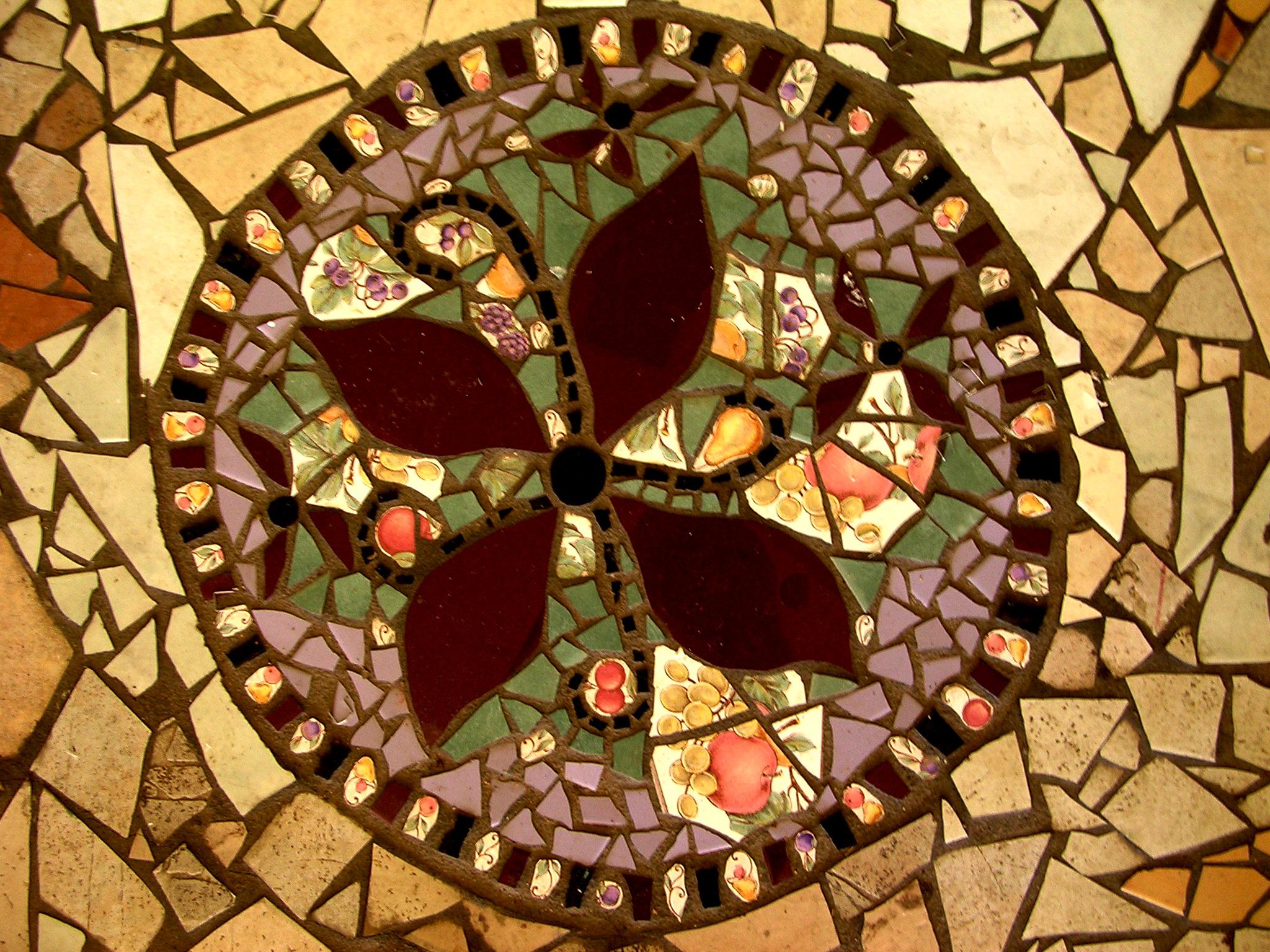 Cafe floor, detail.