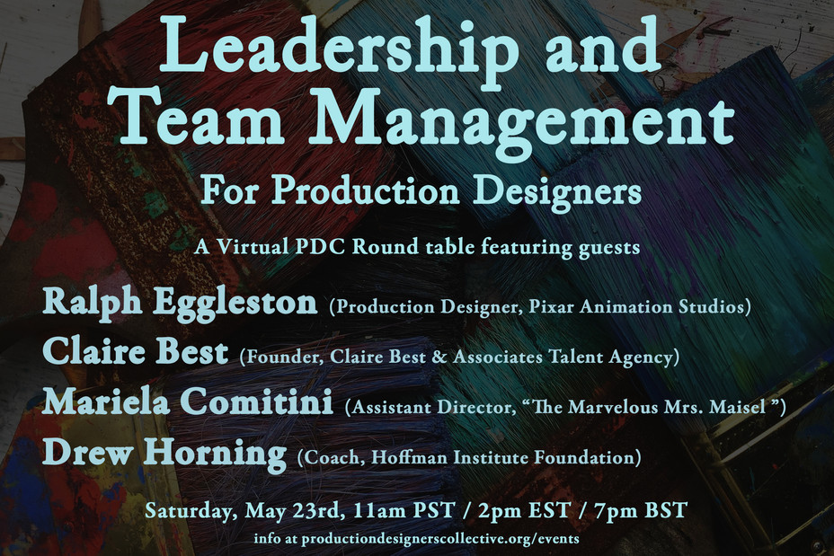 Leadership and Team Management for Production Designers - online panel