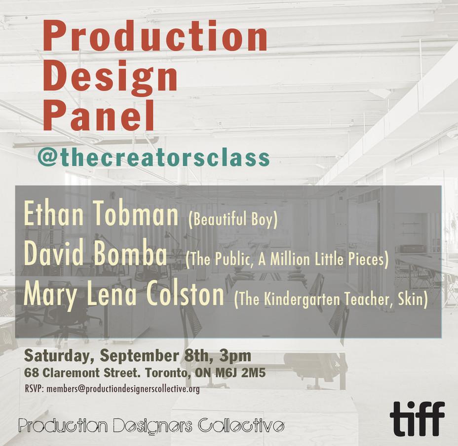 Production Design Panel - Toronto Film Festival