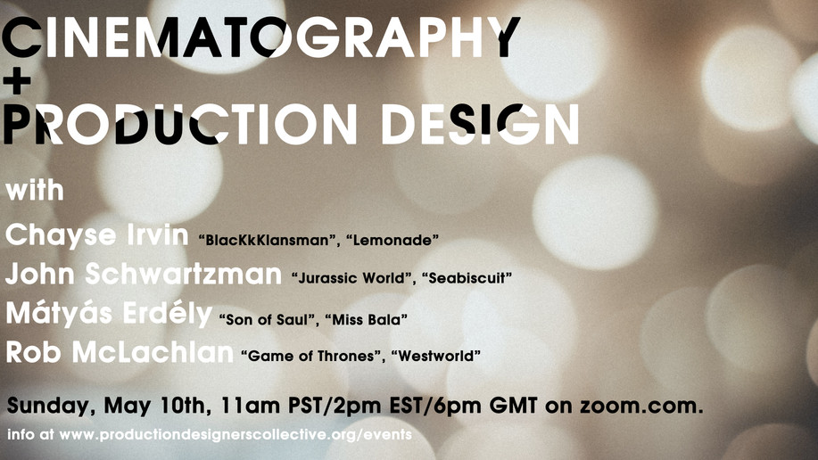 Sharing the Screen - Cinematography and Production Design online panel