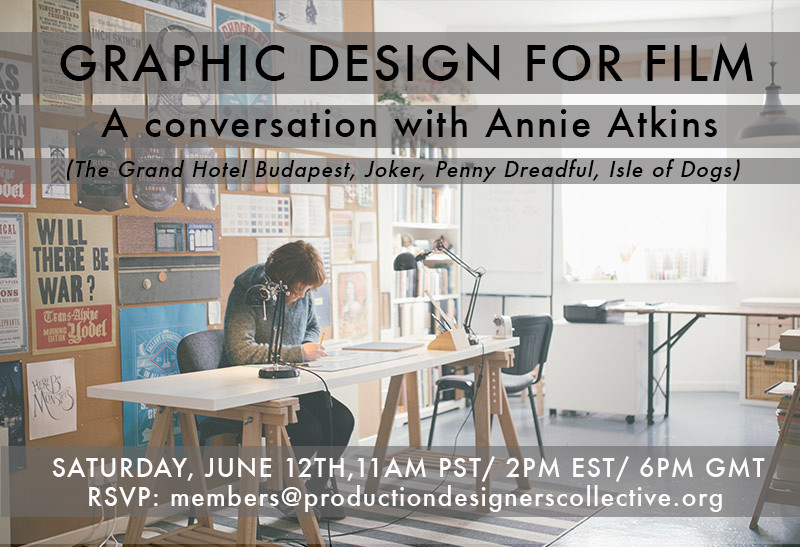 PDC Online Session with Graphic Designer Annie Atkins