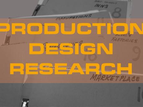 Production Design Research with Celia Barnett