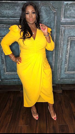 My Tulip Dress (Yellow)
