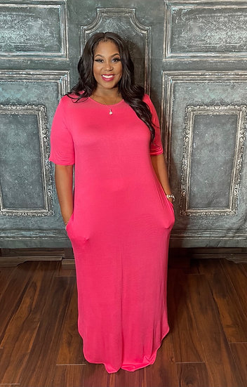 Simple and Cute Dress (Pink)