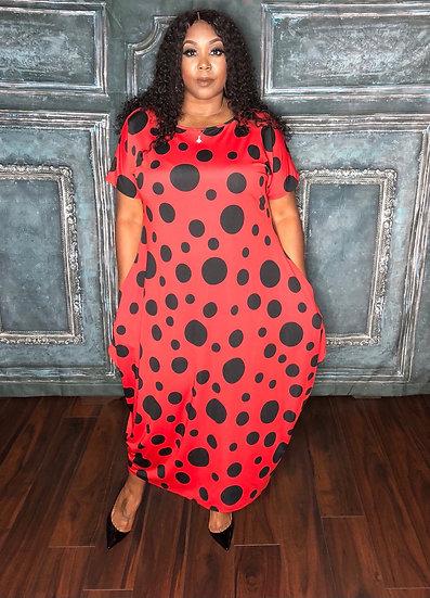 Polka Dot Print (Black&Red)