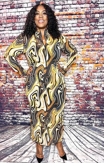 Reversible Dress Brown