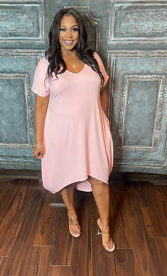 My Pink High-Low Dress