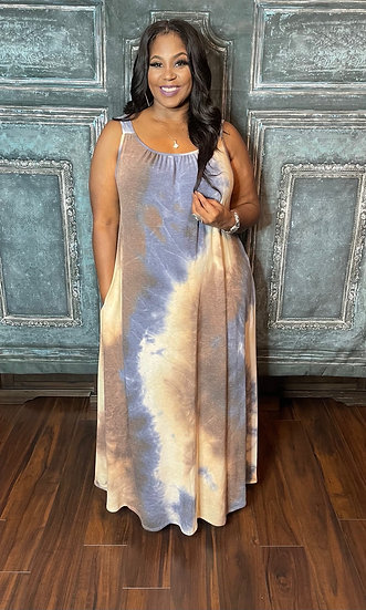 Dye Jersey Dress