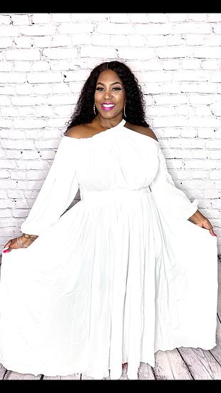 You Call It Maxi Dress (White)