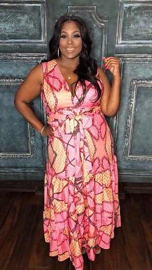 Pink Mix Maxi Dress