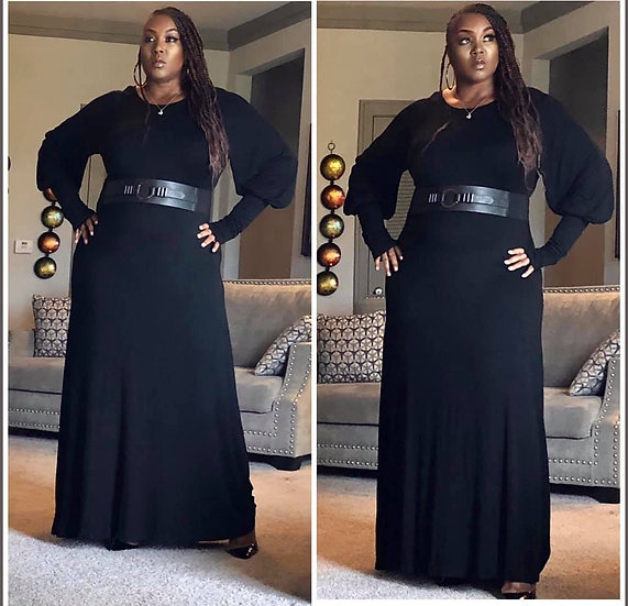 Extended Cuff Maxi Dress