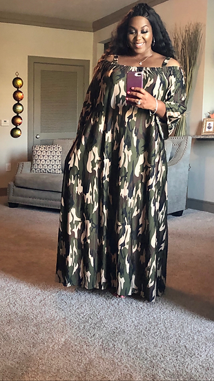 Just My Maxi Dress Camouflage