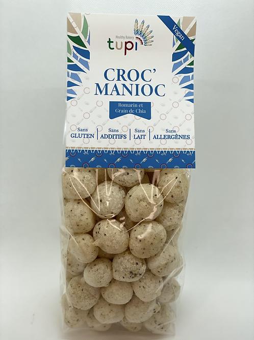 Croc'Manioc ROMATIN ET GRAINES DE CHIA - 100g