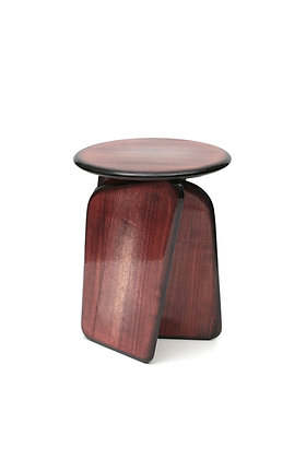 Vent Contraire red-brown stool - side table