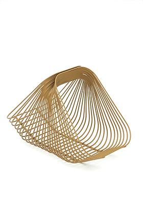 Sur le Fil basket gold brown