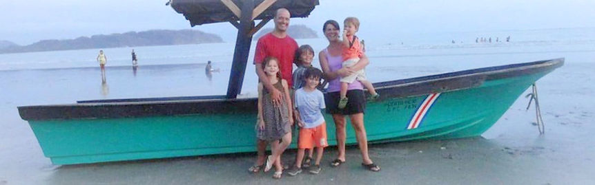 Picture of Rob Huge and Family in South America with his four young children and wife