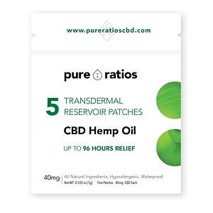 Pure Ratios CBD Transdermal Patch 5pk