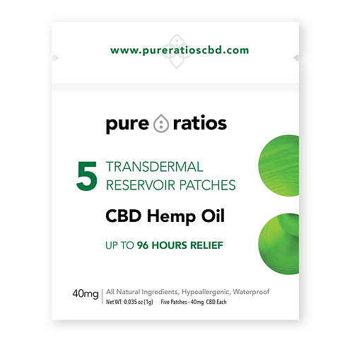 Pure Ratios CBD Transdermal Patch 5pk