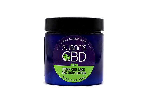 Susan's CBD Face and Body Lotion