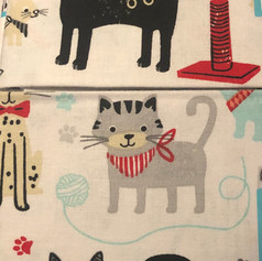 Cats, Scratching Posts, Yarn on White