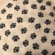 Black Paw Print on White