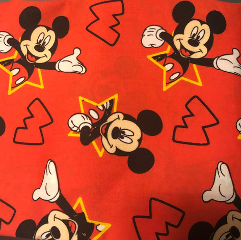 Mickey Mouse - M on Red