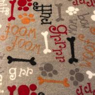 Dog Speak, Bones and Paws on Grey