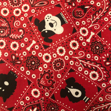 Black and White Dogs - Red Bandana Style